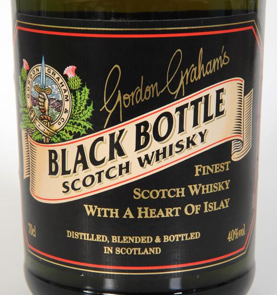 Black Bottle Finest Scotch Whisky with a Heart of Islay