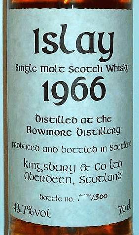 Bowmore 1966 Kb