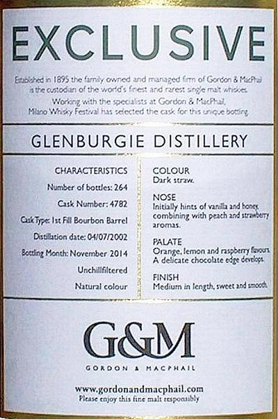 Glenburgie 2002 GM