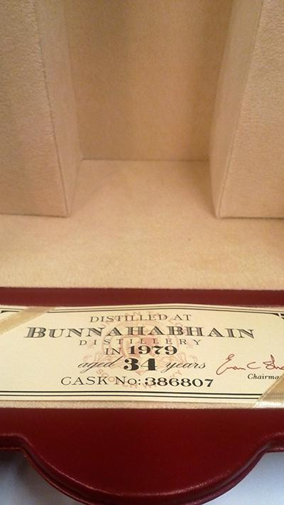 Bunnahabhain 1979 DT