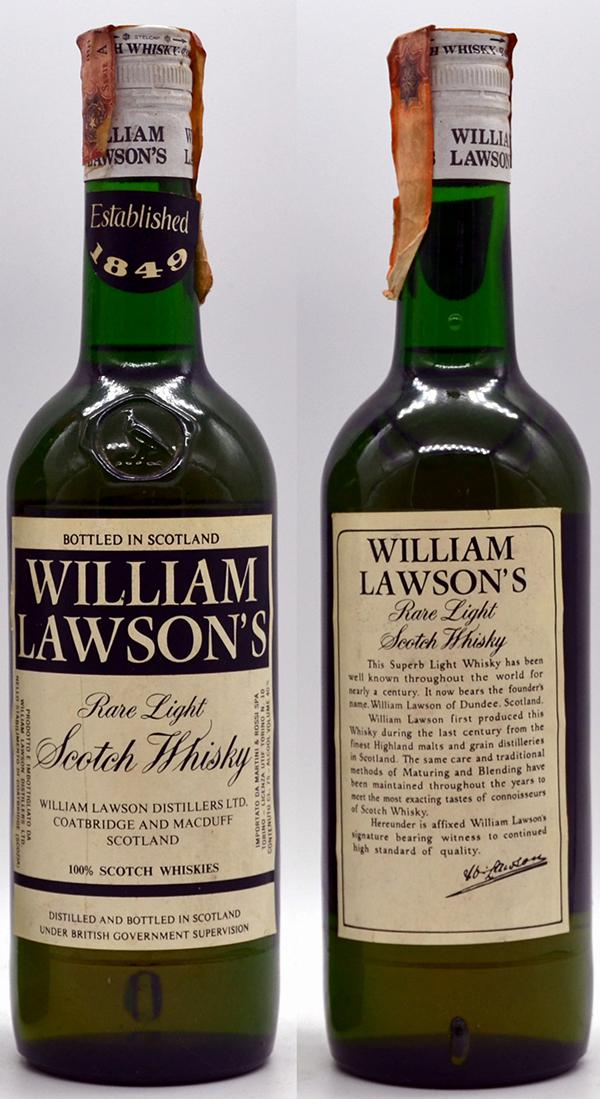 William Lawson's Rare Light Scotch Whisky