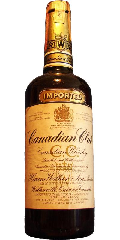 Canadian Club 1971 Imported