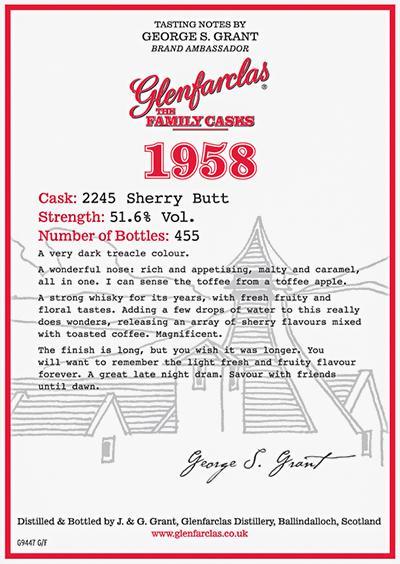 Glenfarclas 1958