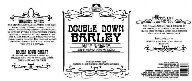 New Holland Brewing Double Down Barley