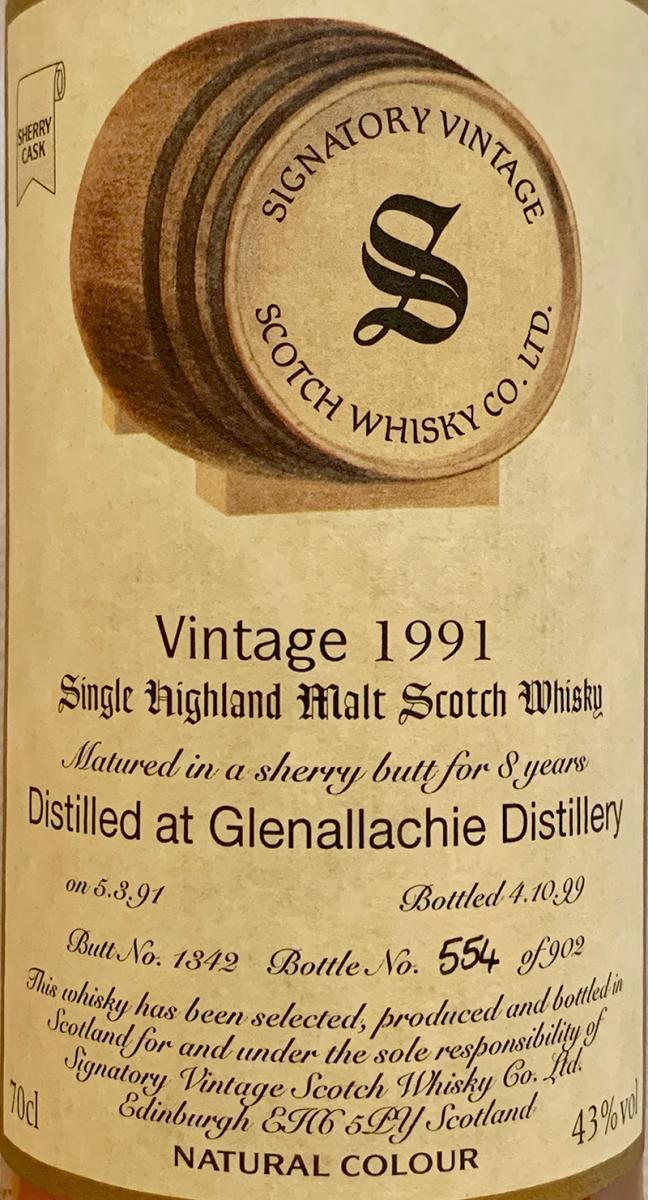 Glenallachie 1991 SV