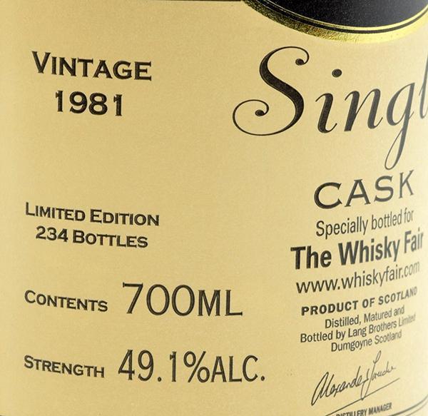 Glengoyne 1981 - The Whisky Fair