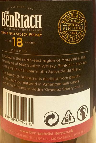 BenRiach 18-year-old - Albariza