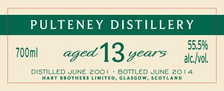 Old Pulteney 2001 HB