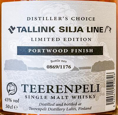 Teerenpeli Port Wood Finished