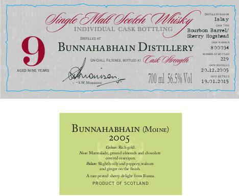 Bunnahabhain 2005 DR Peated