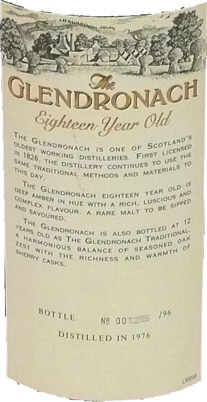 Glendronach 18-year-old