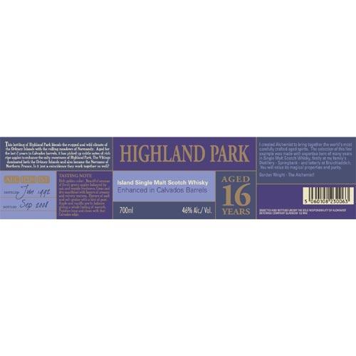 Highland Park 1992 Al