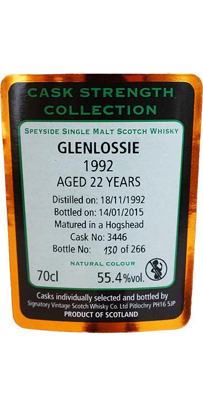 Glenlossie 1992 SV