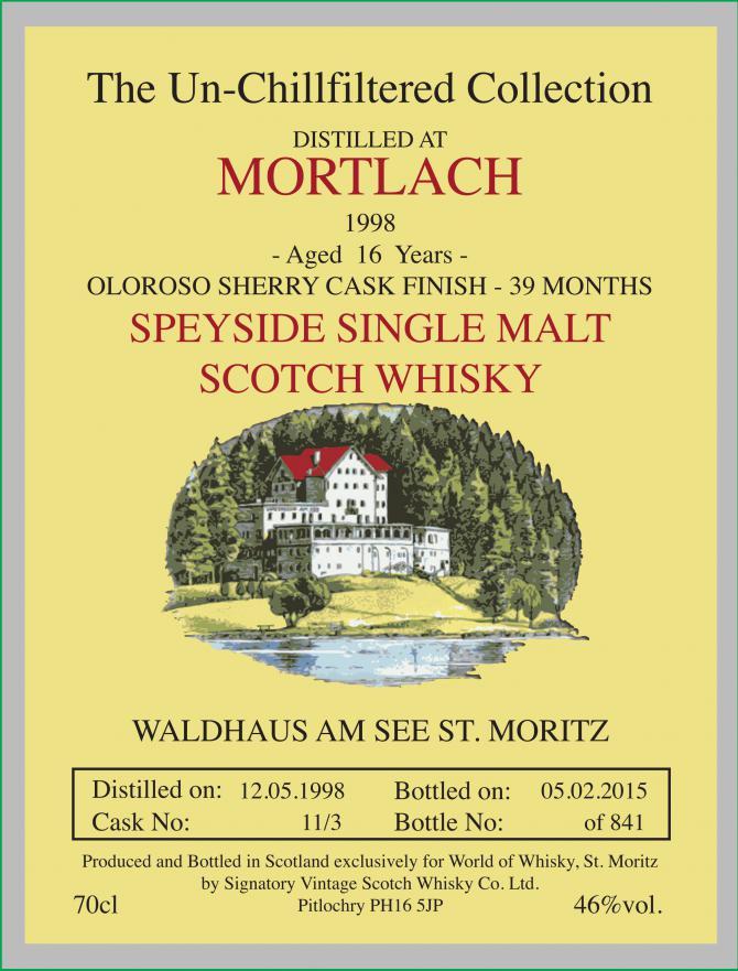 Mortlach 1998 SV