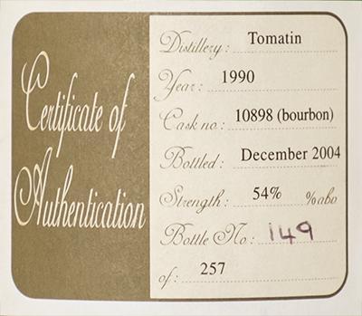 Tomatin 1990 SLC