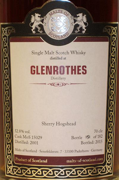 Glenrothes 2001 MoS