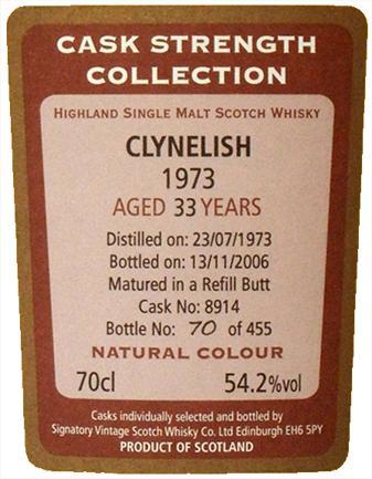 Clynelish 1973 SV