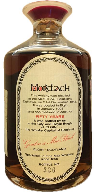 Mortlach 1942 GM Decanter