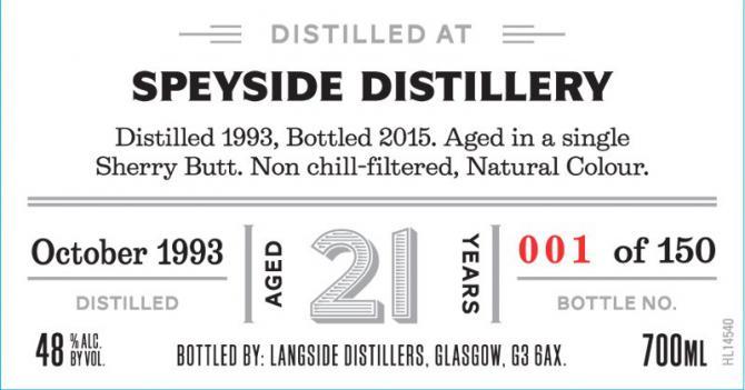 Speyside Distillery 1993 LsD