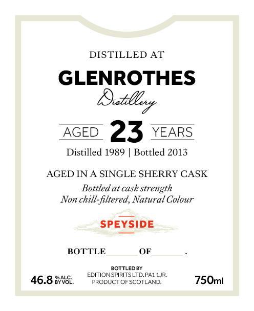 Glenrothes 1989 ED