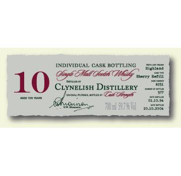 Clynelish 1996 DR