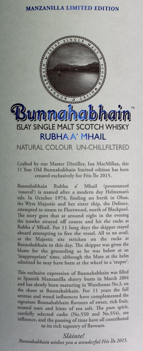 Bunnahabhain 11-year-old