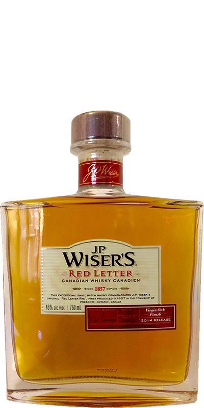 J.P. Wiser's Red Letter