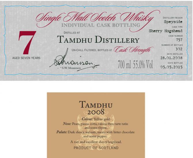 Tamdhu 2008 DR