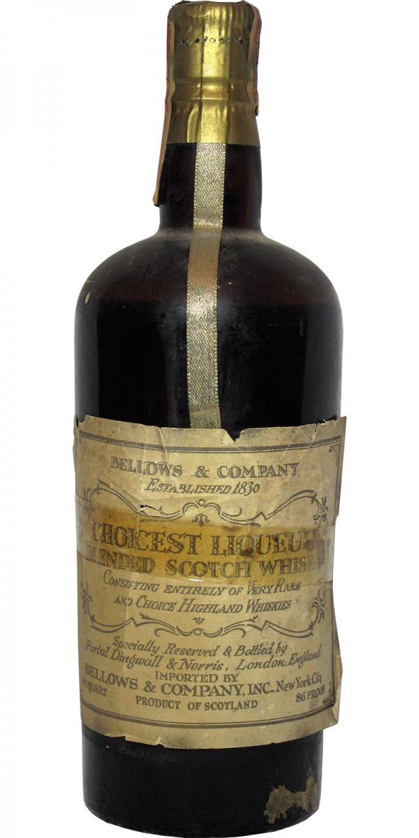 Bellows & Company Choicest Liqueur