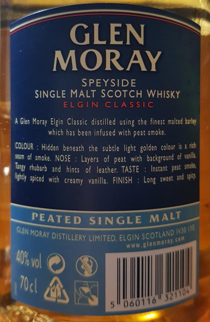 Glen Moray Elgin Classic - Peated