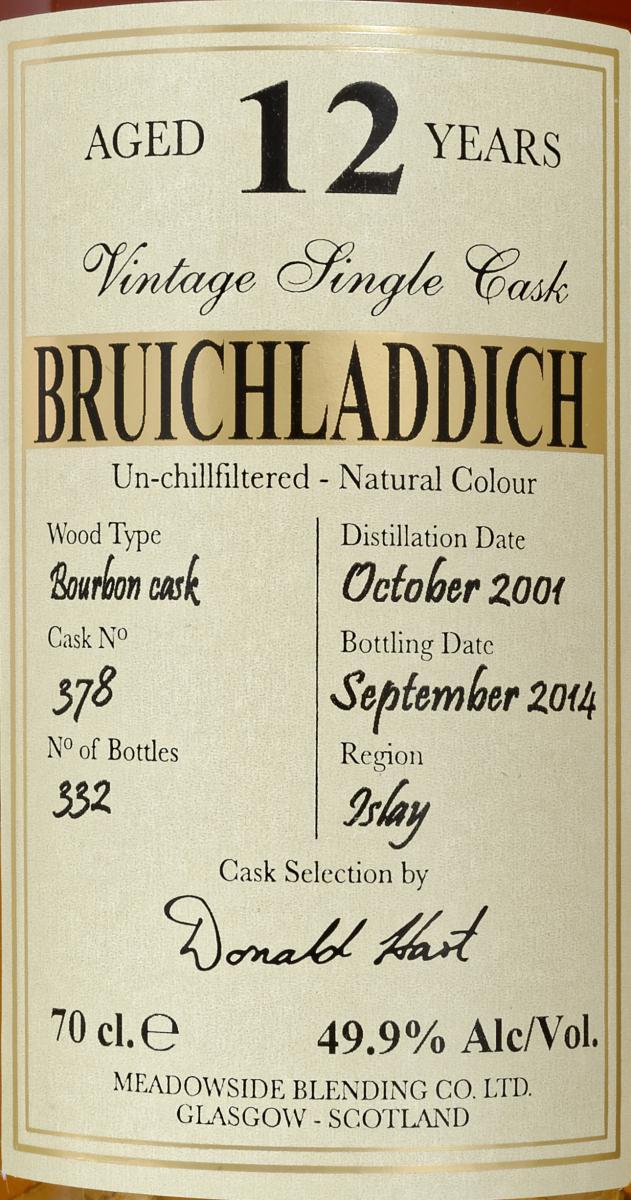 Bruichladdich 2001 MBl