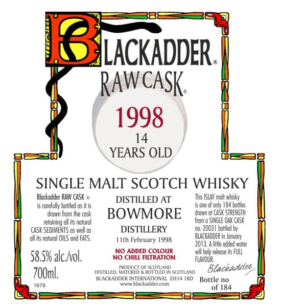 Bowmore 1998 BA