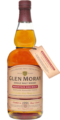 Glen Moray 1991 Mountain Oak Malt