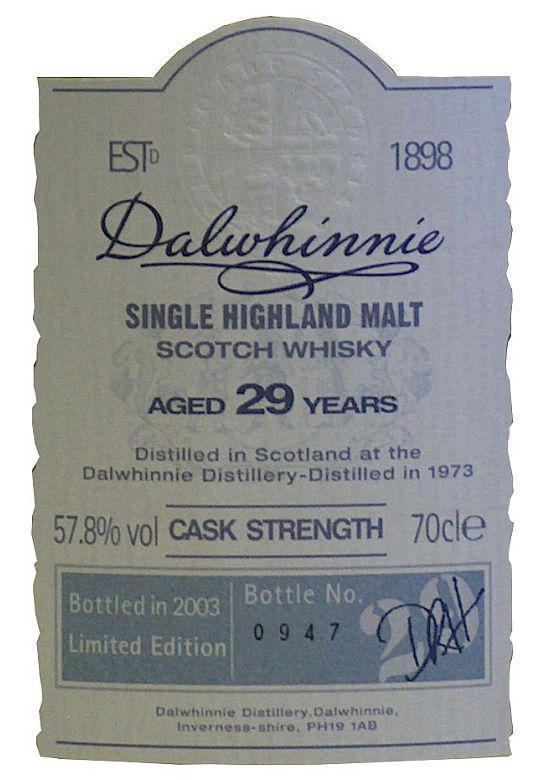 Dalwhinnie 1973