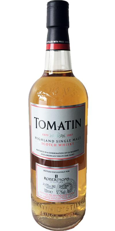 Tomatin Single Cask for Robertsons