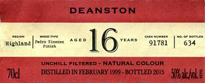 Deanston 1999 IM