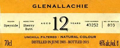 Glenallachie 2003 IM