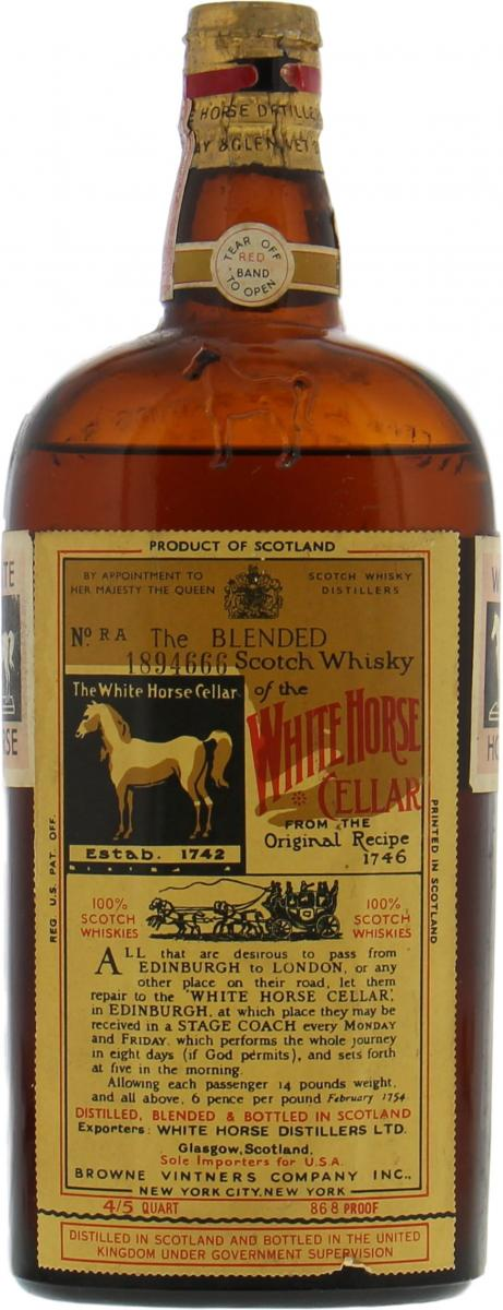 White Horse The Blended Scotch Whisky of the White Horse Cellar