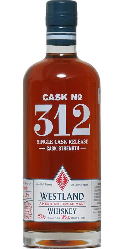Westland Cask No. 312