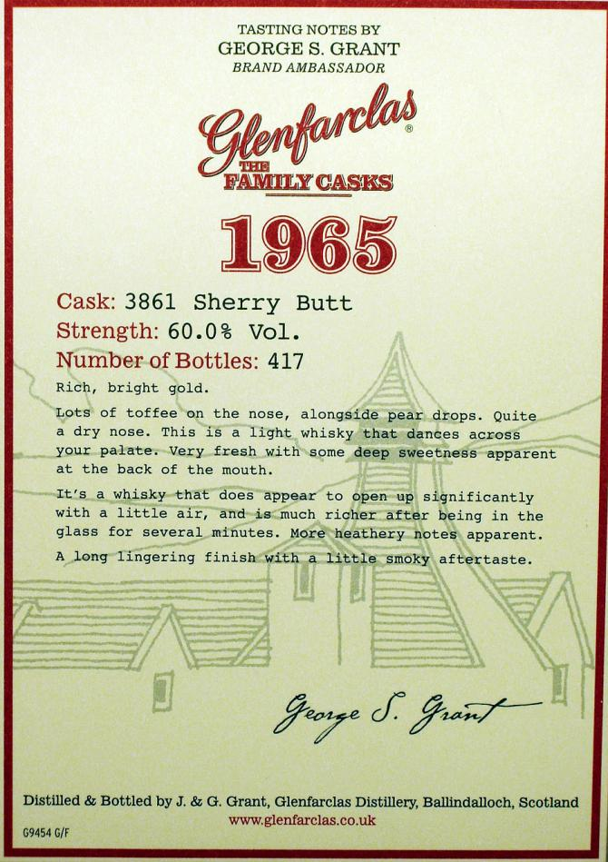 Glenfarclas 1965