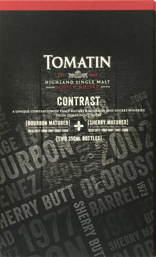 Tomatin Contrast (Bourbon Matured)