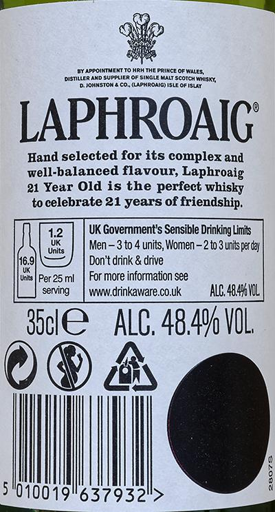 Laphroaig 21-year-old