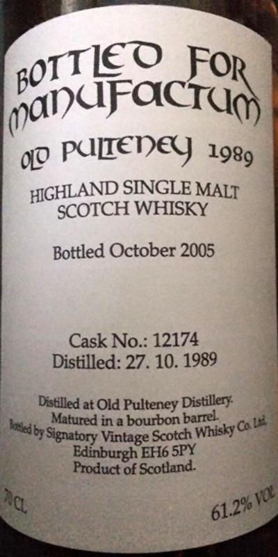 Old Pulteney 1989 SV