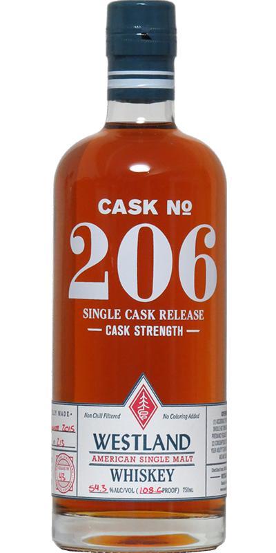 Westland Cask No. 206
