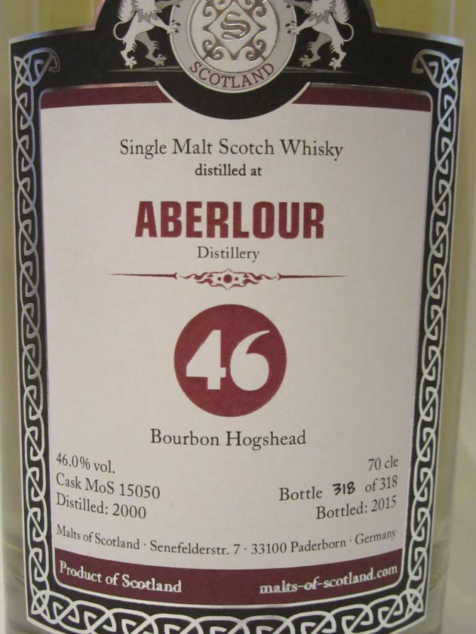 Aberlour 2000 MoS