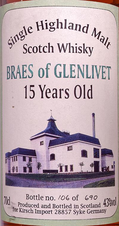 Braes of Glenlivet 1979 KI