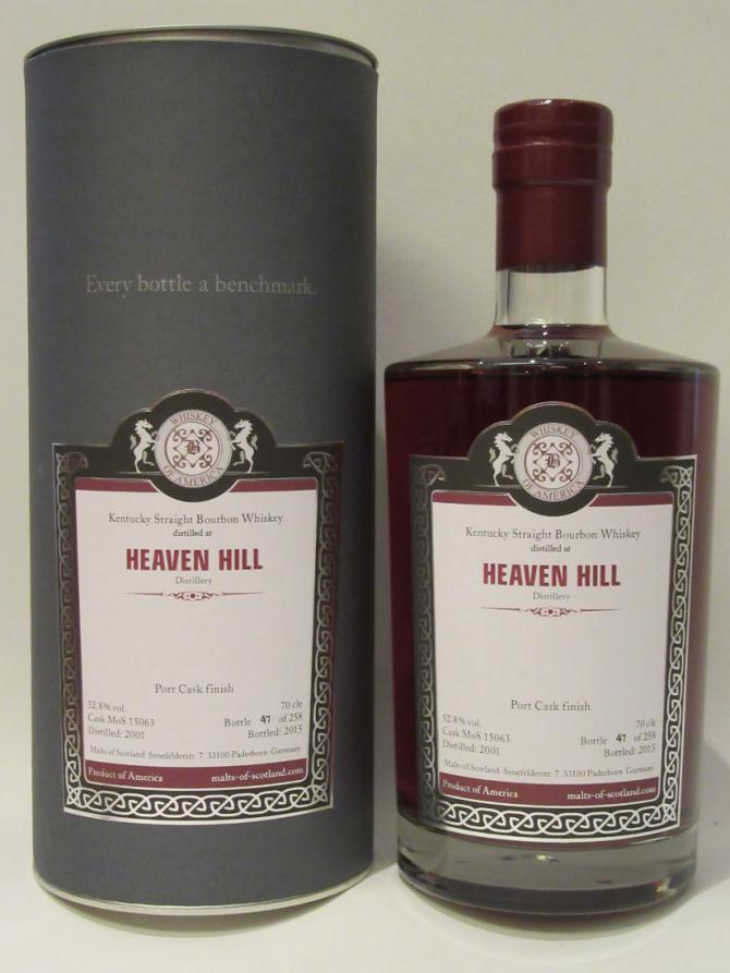 Heaven Hill 2001 MoS