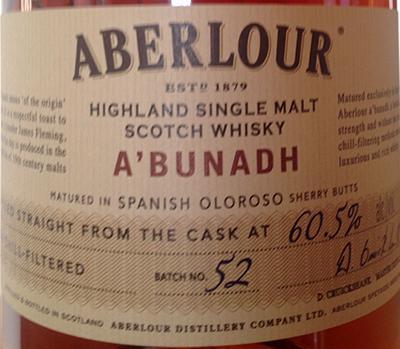 Aberlour A'bunadh batch #52