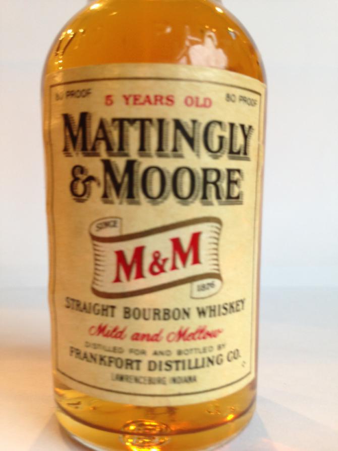 Mattingly & Moore Straight Bourbon Whiskey
