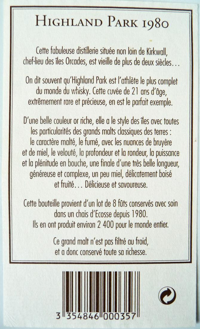 Highland Park 1980 BMcK